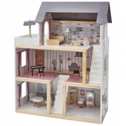 Umeblowany domek dla lalek
